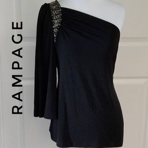 RAMPAGE One Shoulder Top